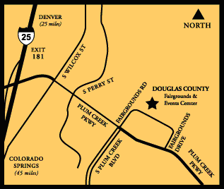 A map to the fairgrounds